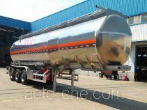 Juntong JF9407GRY flammable liquid aluminum tank trailer
