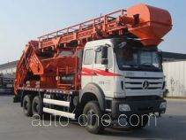 Telescopic belt conveyor truck