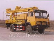 Truck mounted gravel drilling rig