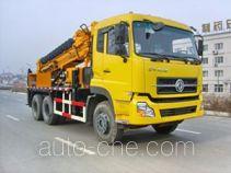 Wheeled hydraulic drilling jumbo truck