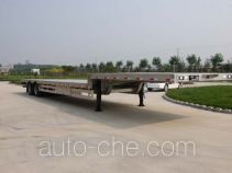 Aluminium low flatbed trailer