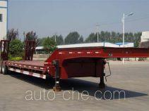 华宇达牌LHY9402TDPA型伸缩式低平板半挂车