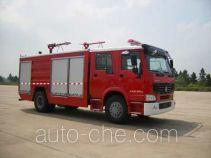 天河牌LLX5193TXFGP60H型干粉泡沫联用消防车