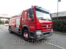 Liquid supply tank fire truck