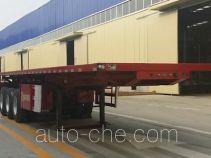 金线岭牌LTY9400ZZXP型平板自卸半挂车