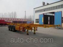 昊统牌LWG9400TJZG型集装箱运输半挂车