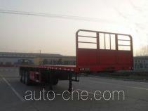 昊统牌LWG9400TPB型平板运输半挂车