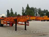 粱锋牌LYL9150TJZ型空载集装箱运输半挂车