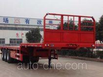 粱锋牌LYL9400TPBE型平板运输半挂车