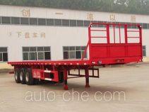 粱锋牌LYL9401TPB型平板运输半挂车