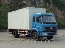 柳特神力牌LZT5162XXYPK2E3L1A95型平头厢式运输车