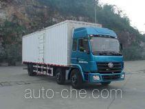 柳特神力牌LZT5253XXYPK2E3L10T3A95型平头厢式运输车
