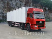 FAW Liute Shenli LZT5310XPYPK2E3L11T2A90 cabover box van truck with soft canopy top