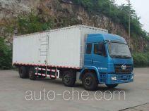 柳特神力牌LZT5313XXYPK2E3L11T2A90型平头厢式运输车