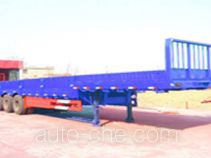 Stepped low bed dropside trailer