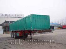 Mengshan box body van trailer