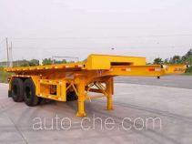 明威牌NHG9341ZPB型平板自卸半挂车