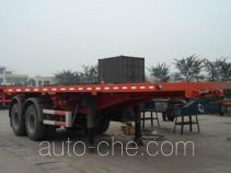 Qindao QD9290TJZP container transport flatbed trailer