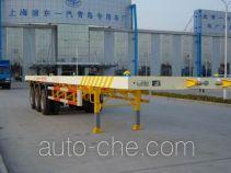 琴岛牌QD9400TJZP型平板集装箱运输半挂车