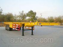 华昌牌QDJ9370TJZG型集装箱运输半挂车