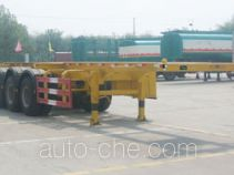 Huachang QDJ9400TJZG container transport skeletal trailer