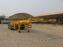 旗林牌QLG9400TJZ型集装箱运输半挂车