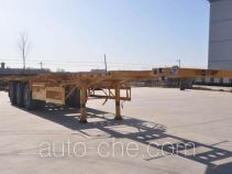 旗林牌QLG9402TWY型危险品罐箱骨架运输半挂车