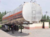 旗林牌QLG9406GYY型铝合金运油半挂车
