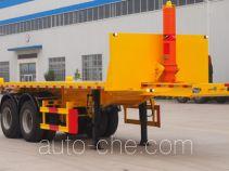 景阳岗牌SFL9350ZZXP型平板自卸半挂车