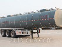 Liquid asphalt transport tank trailer