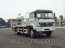 华威驰乐牌SGZ5160TPBZZ5M5型平板运输车
