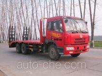 华威驰乐牌SGZ5252TPBCA3型平板运输车
