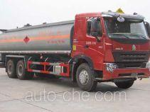 华威驰乐牌SGZ5259GHYZZ3W581型化工液体运输车