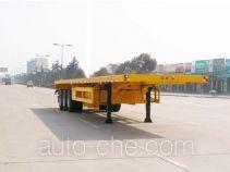 华威驰乐牌SGZ9390P型平板半挂车