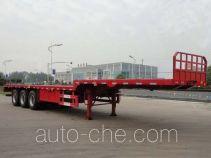 华威驰乐牌SGZ9400TPB型平板运输半挂车