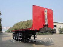 中国重汽集团湖北华威专用汽车有限公司制造的平板自卸半挂车