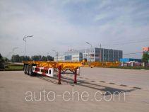 华威驰乐牌SGZ9401TJZ型集装箱运输半挂车