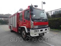 Class A foam fire engine