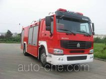 Jieda Fire Protection SJD5190TXFGP65L dry powder and foam combined fire engine