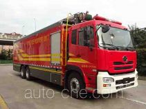 Fire hose laying loophole truck