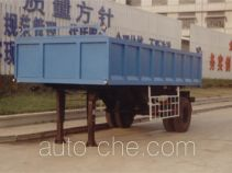 Backward dumping trailer