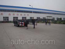 Shengrun SKW9400TGY high pressure gas long cyllinders transport skeletal trailer