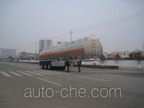 Longdi flammable liquid aluminum tank trailer