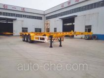 Liangyun SLY9380TWY dangerous goods tank container skeletal trailer