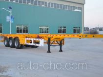 Liangyun SLY9381TWY dangerous goods tank container skeletal trailer