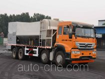 Concrete production mixing truck