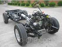 Dual-fuel pickup truck chassis