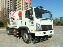 Mixing concrete pump truck