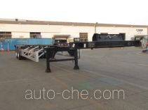 CIMC Tonghua THT9352TWYA dangerous goods tank container skeletal trailer