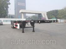 CIMC Tonghua THT9352TWYB dangerous goods tank container skeletal trailer